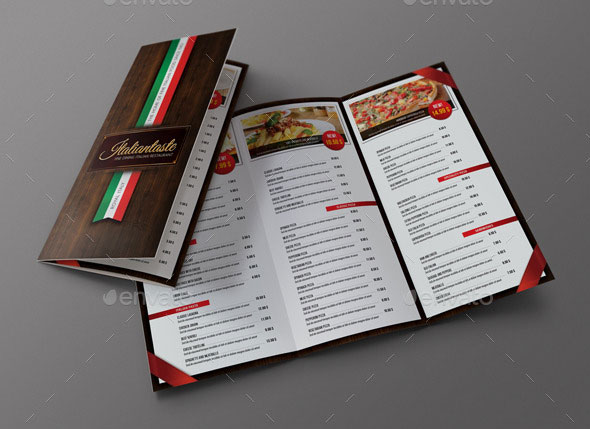 Italian Restaurant 3-Fold Brochure