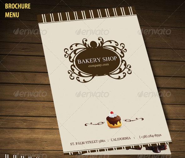 Bakery Menu Brochure