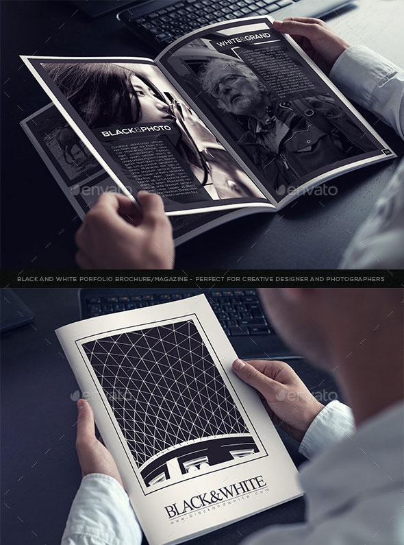Black & White Brochure Template V.1