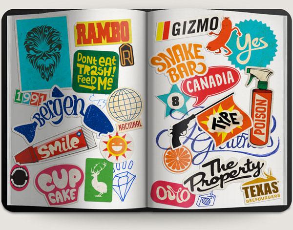Sticker Typography