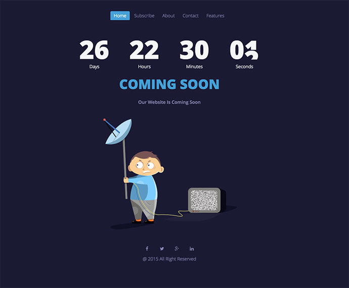 simple under construction html template - 43 cool html coming soon templates web graphic design