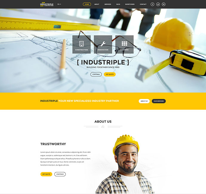 Industriple - Multi Industrial Template