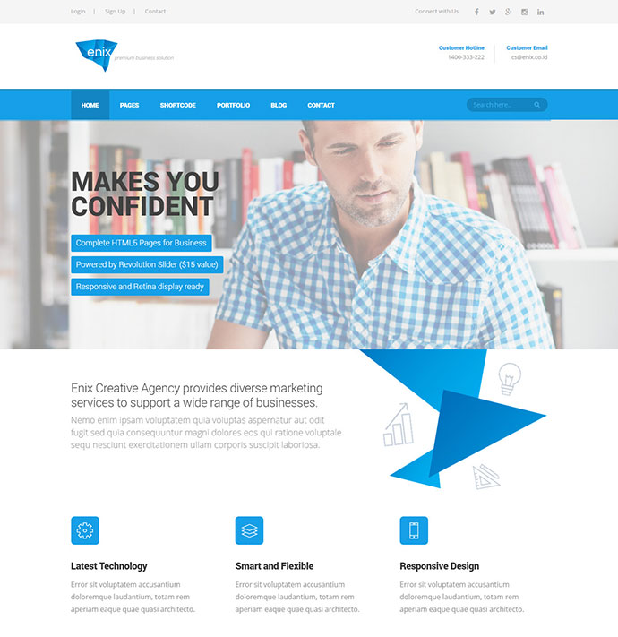 45 best corporate business html website design templates web enix modern corporate html template cheaphphosting Images