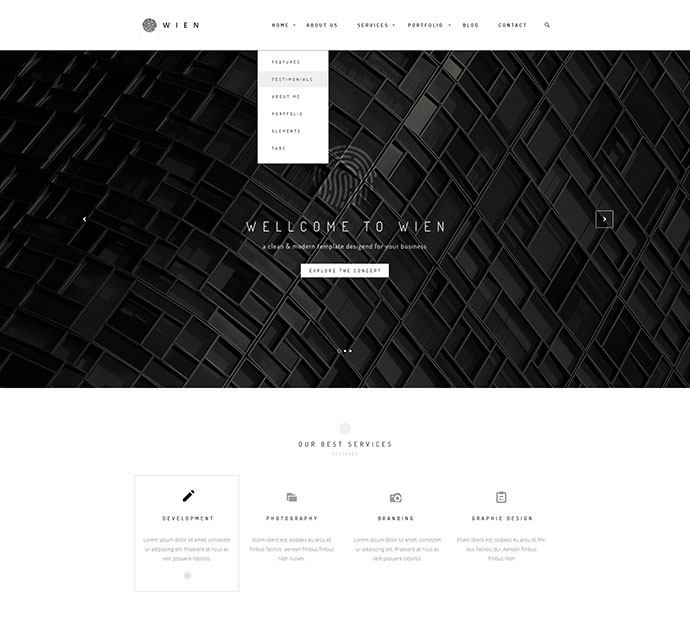 Wien – Modern Business Multi-Purpose HTML5 Website