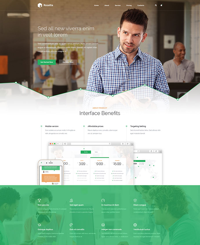 45 best corporate business html website design templates web rosetta multipurpose html template accmission Choice Image