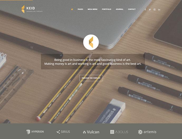 Keid - Modern Multipurpose HTML Template