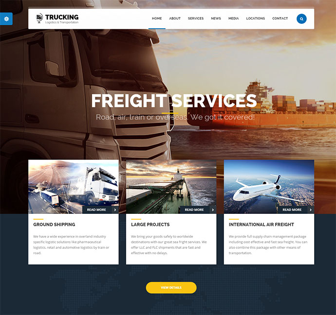 45 best corporate business html website design templates web trucking transportation logistics html template wajeb Image collections