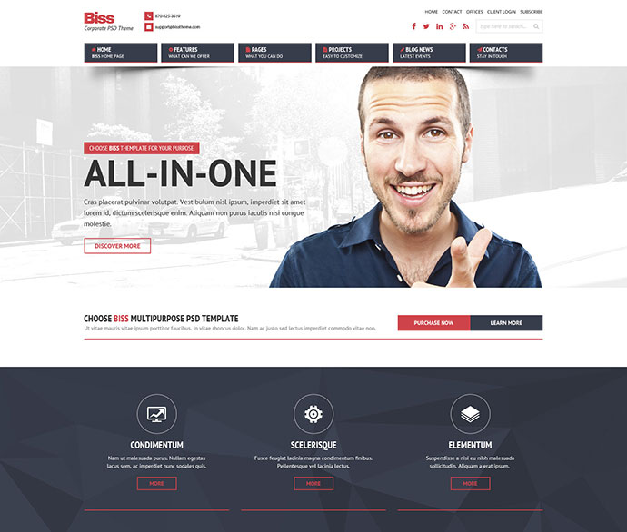 Biss Corporate HTML  Themplate