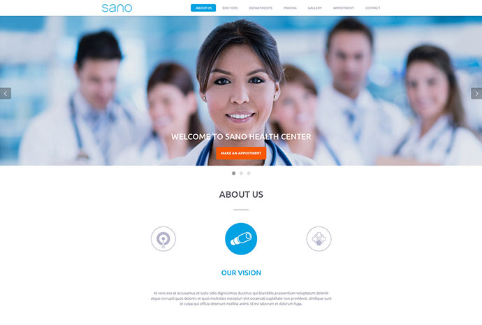 SANO - Multipurpose Medical Business Template