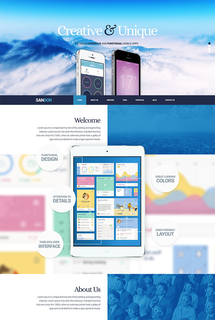 SANDOR Creative HTML Multipurpose Template