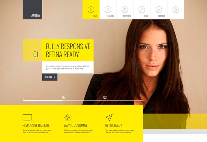 Amilia - Responsive Multi-Purpose Template