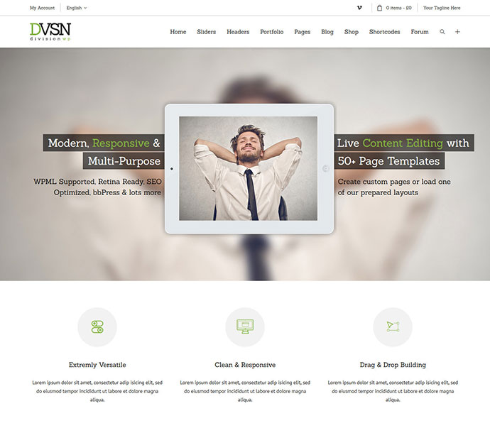 Division - Responsive HTML Multi-Purpose Theme