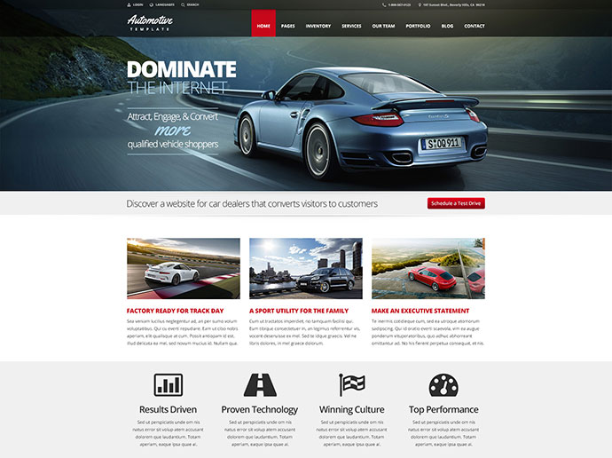 Automotive Car Dealership & Business HTML Template