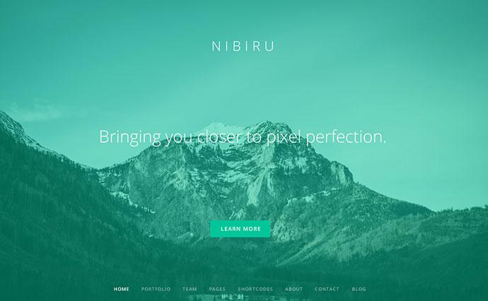 Nibiru - Multi-Purpose Responsive Retina HTML5