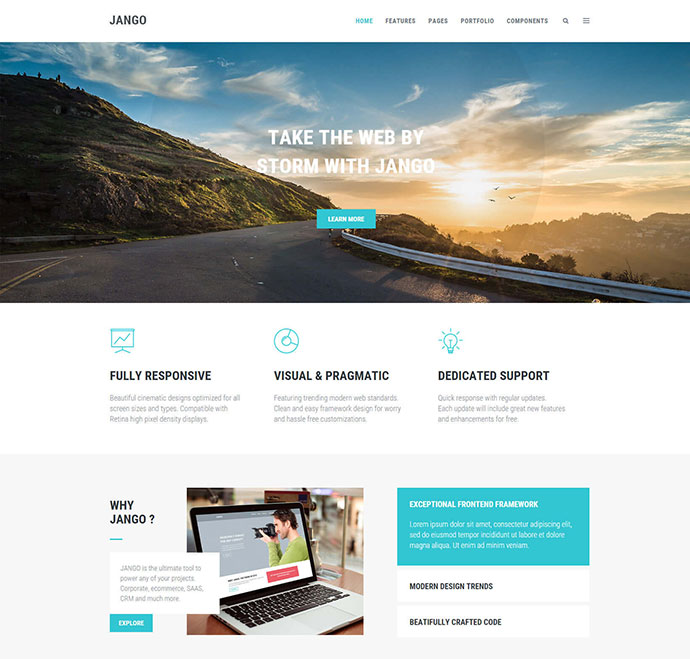 Jango | Responsive Multi-purpose HTML5 Template