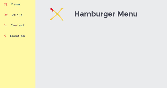 The ultimate hamburger menu