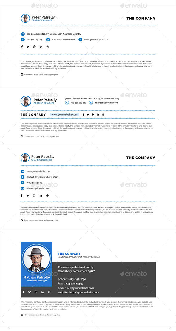 15 awesome email signature psd templates