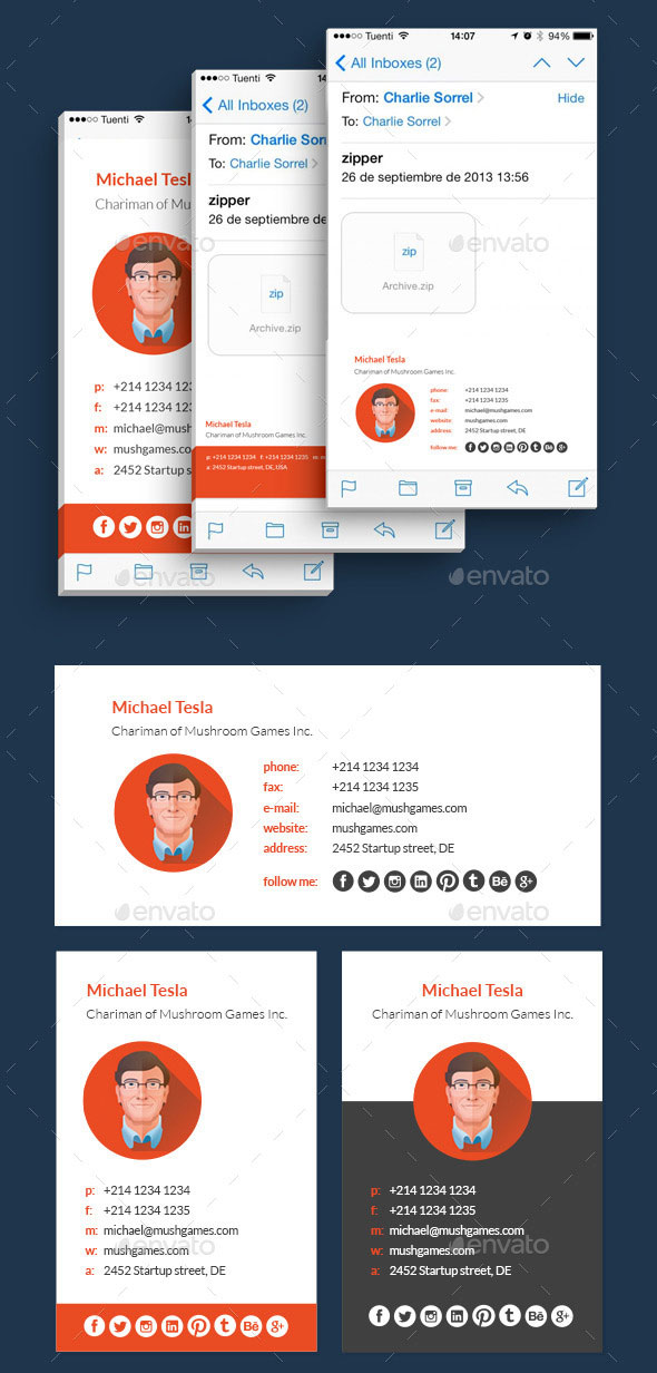 15 Awesome Email Signature Psd Templates Web Graphic Design