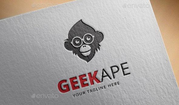 Geek Ape Logo Template