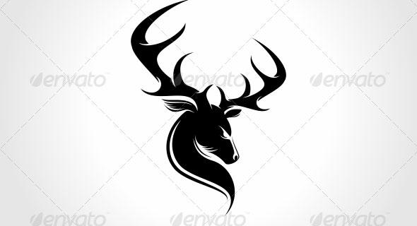 Deer Head Logo Templates