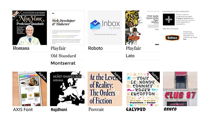 Fonts In Use is not limited to Google Fonts, but you ll find them as well, together with plenty of other options