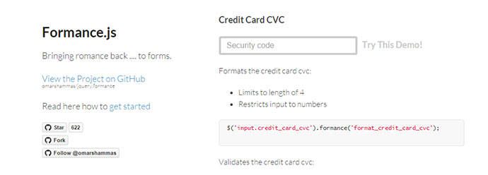 8 jQuery Credit Card Form Plugins – Bashooka