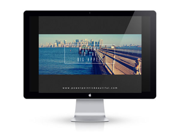 Free Powerpoint Template - Big Apple