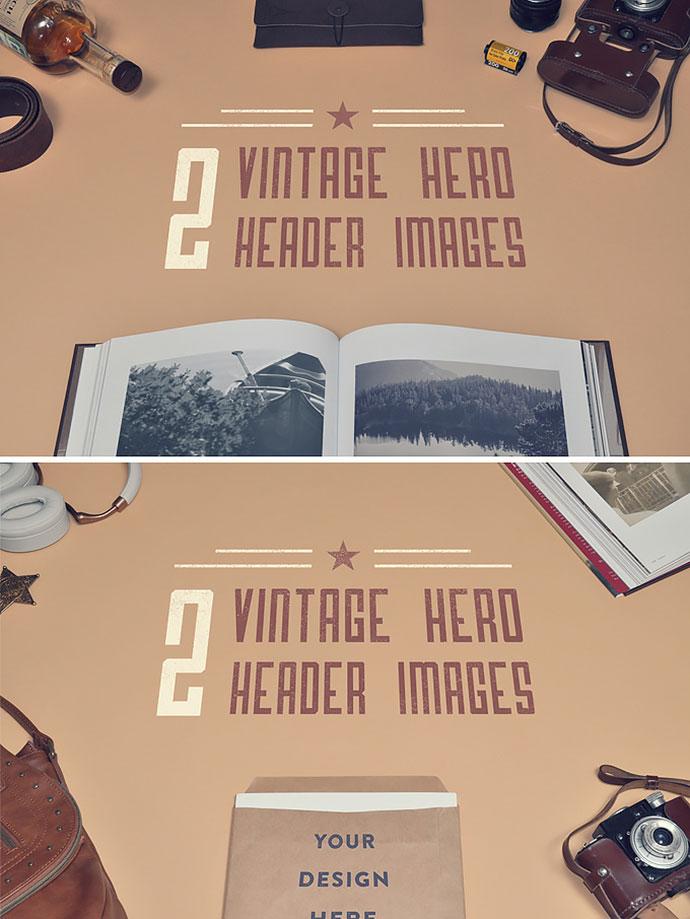Freebie: 2 Vintage Hero/Header images
