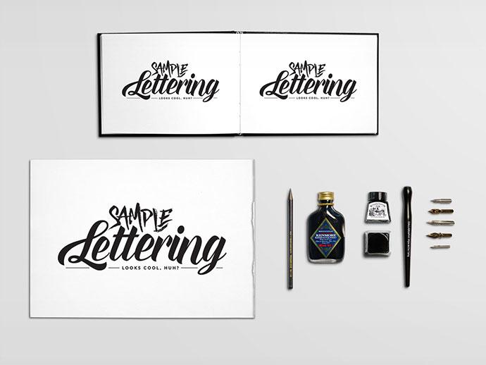 Free PSD Template: Calligraphy Scene Creator