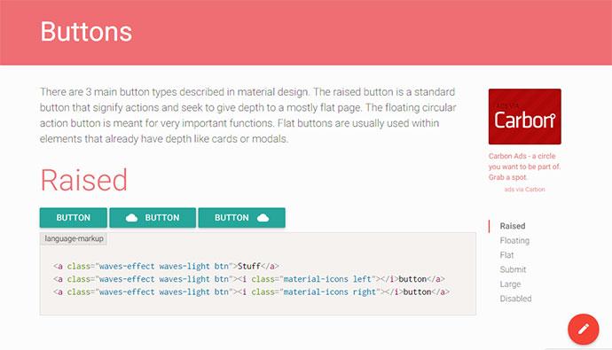 18 Material Design CSS Frameworks – Bashooka