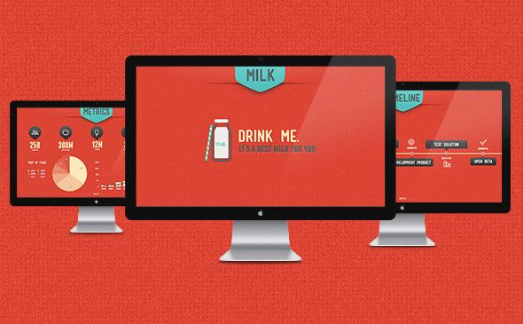 Retro Milk PowerPoint