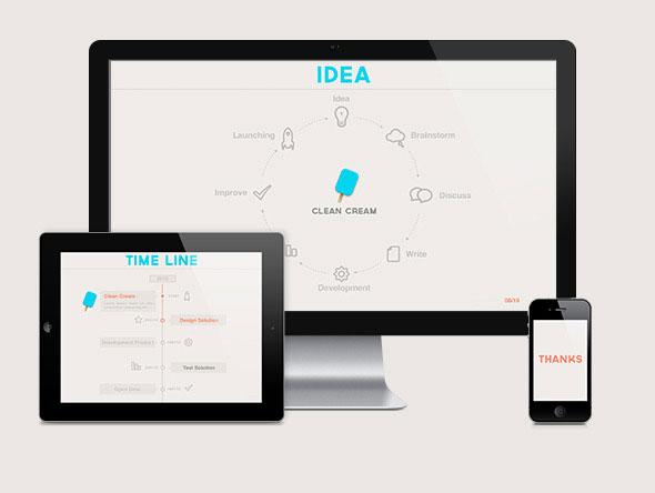 20 minimalist powerpoint templates to impress your audience web clean cream powerpoint presentation toneelgroepblik Images