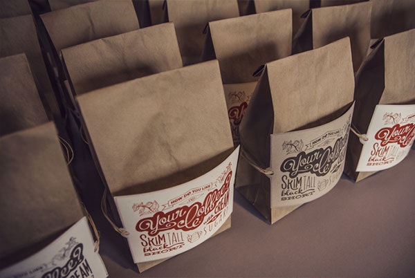 Coffee Bags & Handlettered POstCard