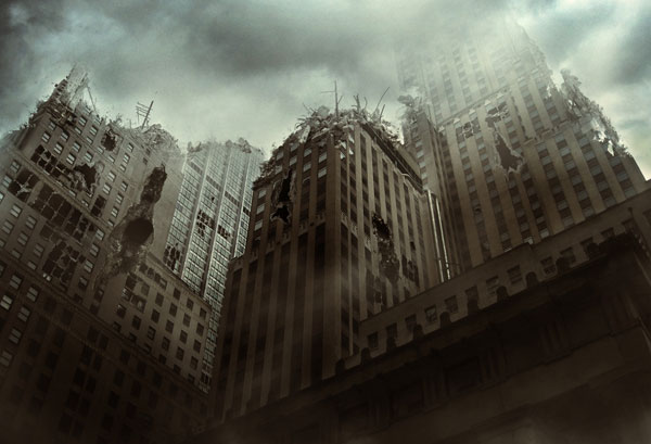 Create a City Destruction Scene Photo Manipulation in Adobe Photoshop