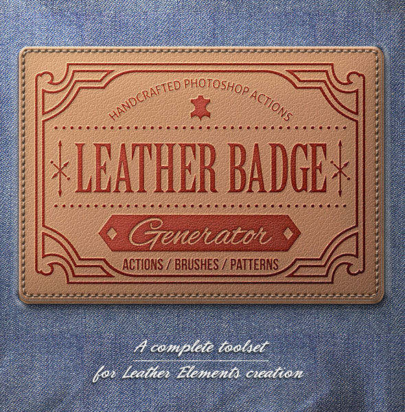 Leather Badge Generator - Photoshop Actions