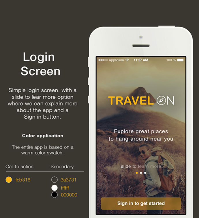 Travel app. Concept