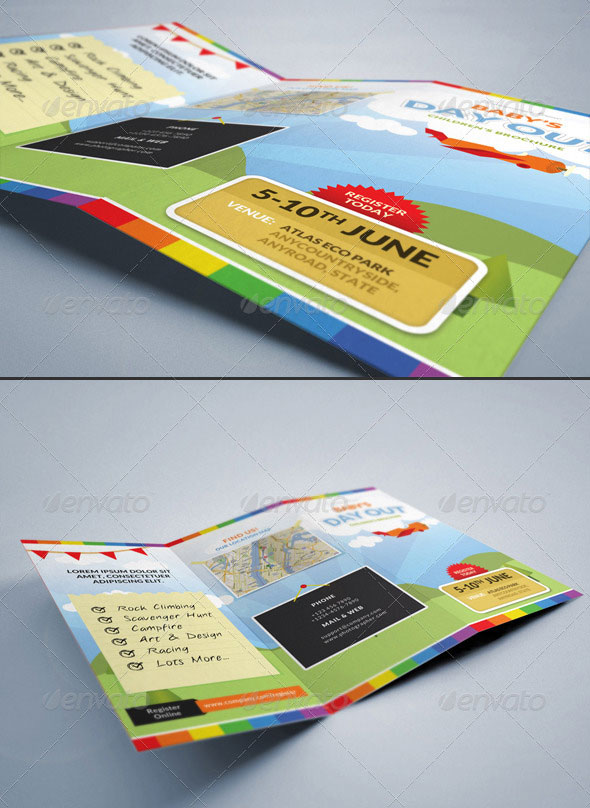 Summer Camp Kids Tri-Fold Brochure