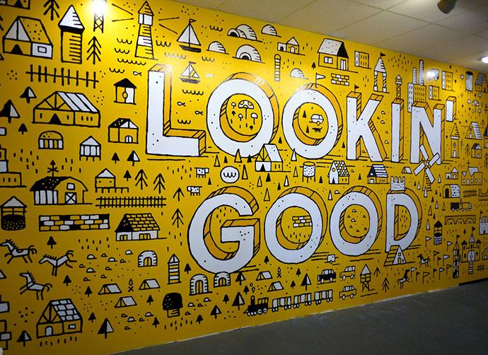 34 Inspiring Typography Wall Mural Designs Bashooka