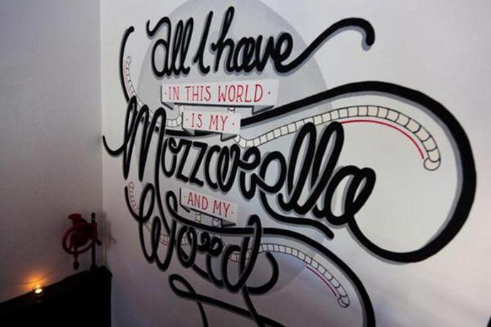 The Buffalo Dining Club Custom Typography Installation
