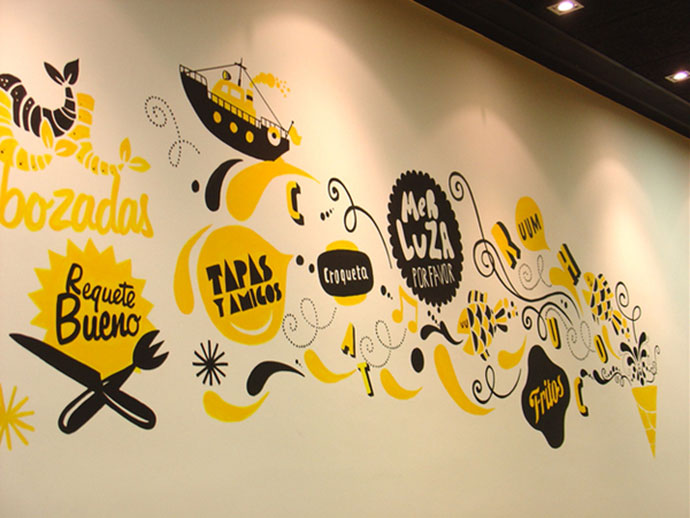 34 Inspiring Typography Wall Mural Designs | Web & Graphic Design ...