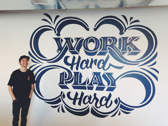 Work Hard Play Hard Mural