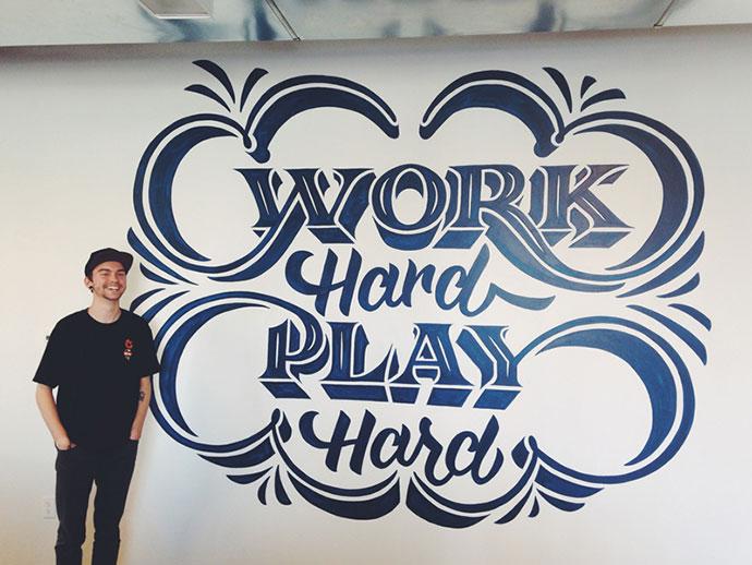 Work Hard Play Hard Mural
