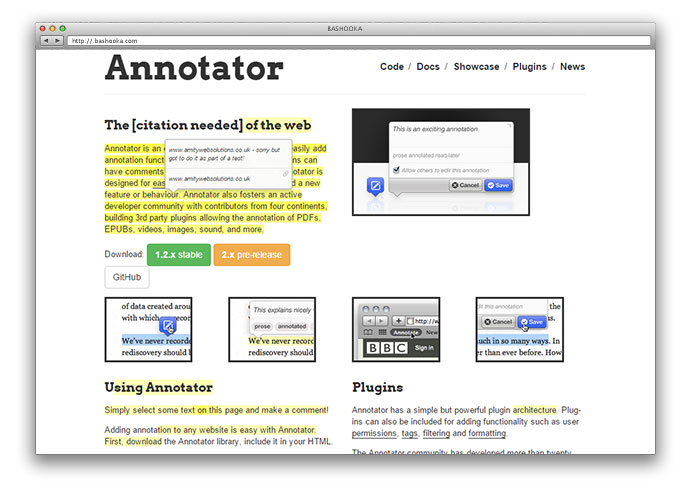 Annotator has a simple but powerful plugin architecture.