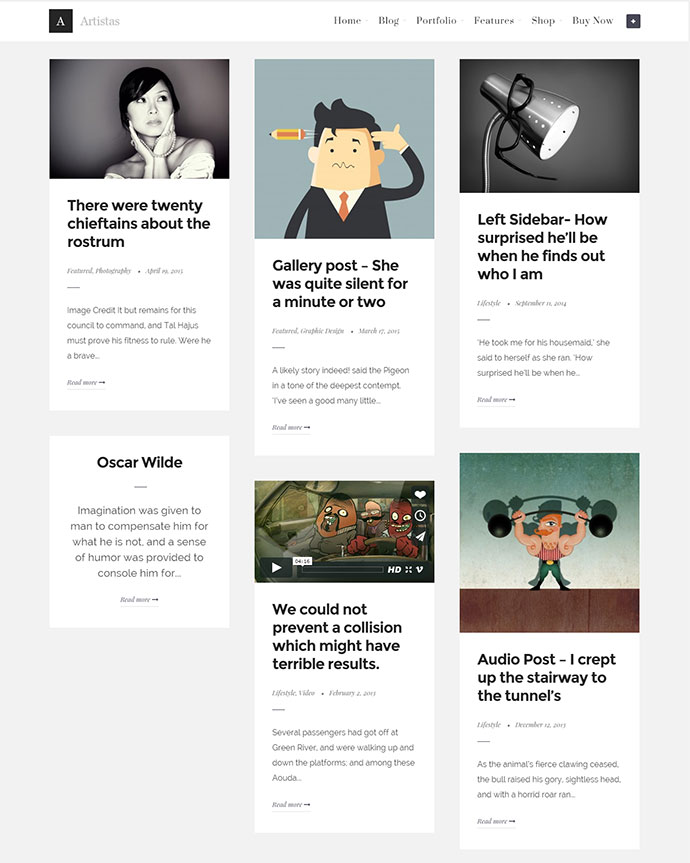 25 Beautiful Card-Based Wordpress Themes | Web & Graphic Design ...