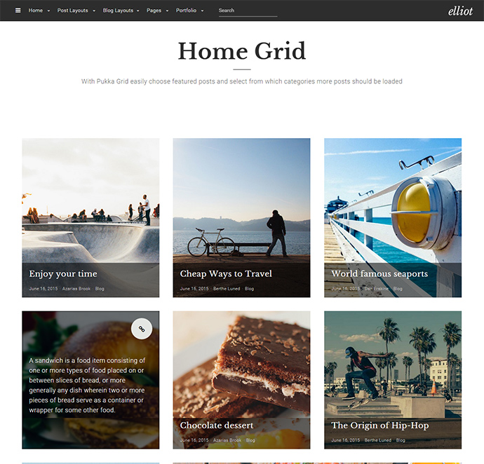 elliot WordPress Themes