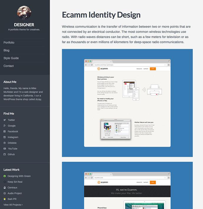 designer WordPress Themes