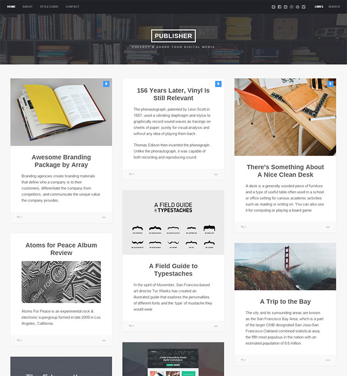 publisher WordPress Themes
