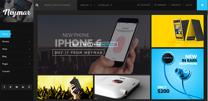 neymar WordPress Themes