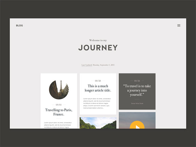 Journey - Blog Theme