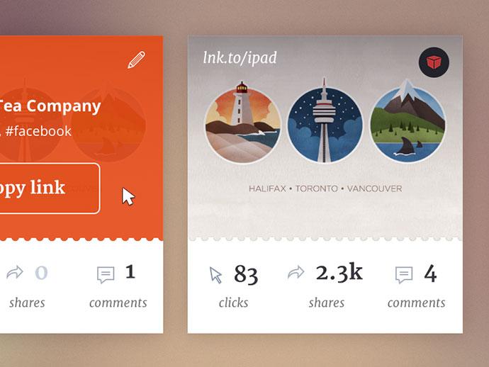 Link cards UI